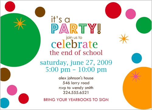 Bubbles Bright Party Invitation by Erin Condren