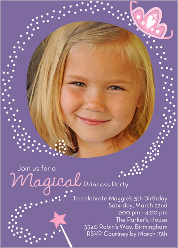Magical Princess Birthday Invitation by Stacy Claire Boyd