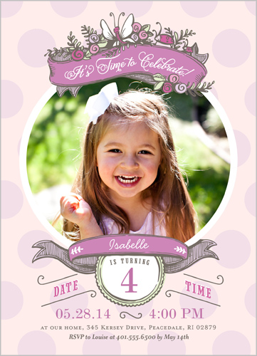 Butterfly Frame Birthday Invitation by pottsdesign