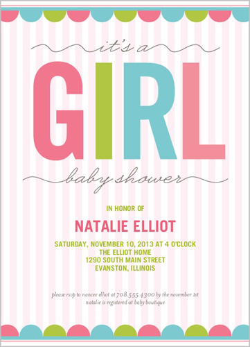 5x7 Text Baby Shower Invitation | Designs | Shutterfly