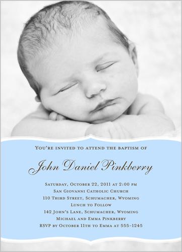 Pretty Precious Blue Baptism Invitation by Petite Lemon