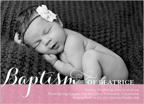 Precious Swirls Girl Baptism Invitation by Blonde Designs