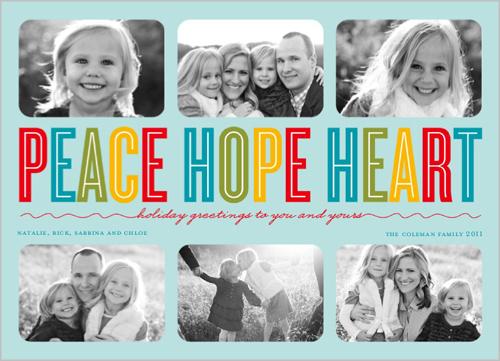 Holiday Cards 2011 - Peace, Hope, Heart