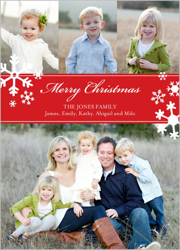 personalized christmas card with a note family pictures - Shutterfly Christmas Cards