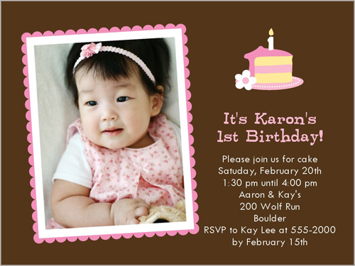 Baby Cakes Pink Birthday Invitation by Stacy Claire Boyd
