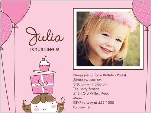 Little Birthday Girl Birthday Invitation by Stacy Claire Boyd