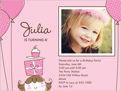 Little Birthday Girl Birthday Invitation by Stacy Claire Boyd