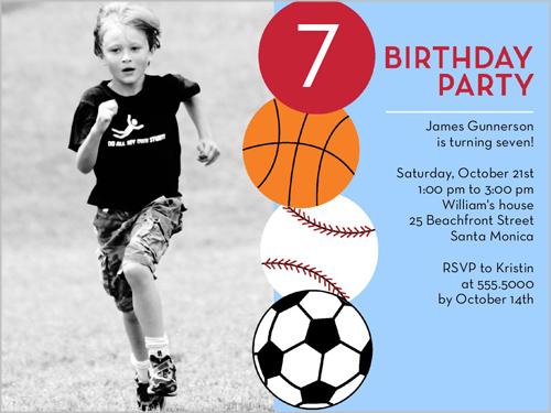 Having A Ball Birthday Invitation by Blonde Designs
