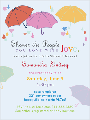 Pretty Parasols Baby Shower Invitation by Erin Condren