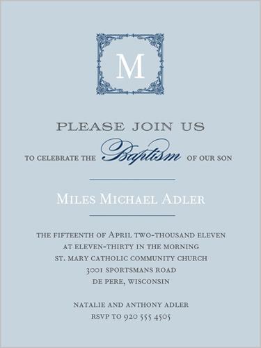 Invitations Baptism Boy as nice invitation layout