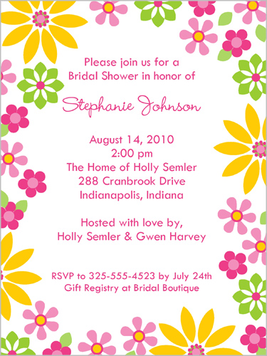 Oasis Blossoms Bridal Shower Invitation