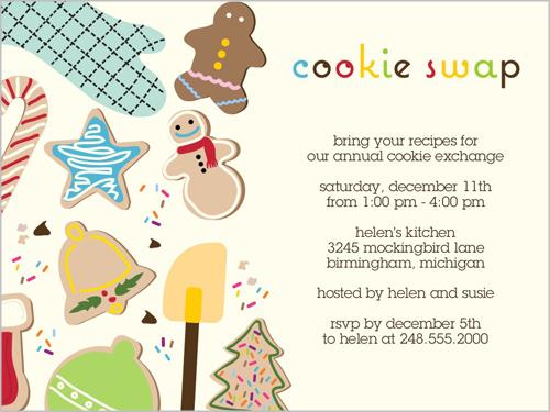 Cookie Exchange Invitations Template