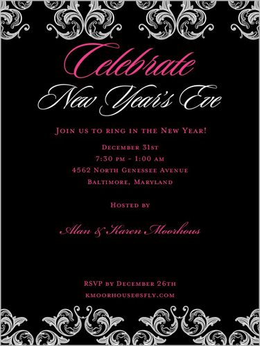 whatever style new years eve party you like to throw you should check out the new invitations that shutterfly has created for the elegant celebration