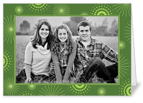Burst Green 5x7 Folded Card