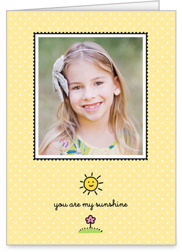 My Sunshine 5x7 Folded Card by Stacy Claire Boyd