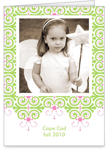 Dazzling Lime Print 5x7 Folded Card by Erin Condren
