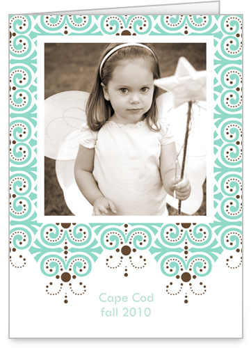 Dazzling Blue Print 5x7 Folded Card by Erin Condren