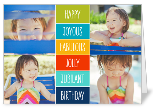 Happy Joyous Fabulous Birthday Card by Petite Lemon