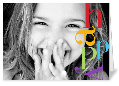 Happy Colors Birthday Card by Vanilla Print