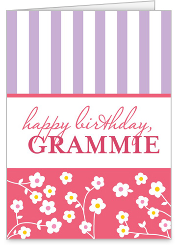 Florals And Stripes Birthday Card by treat.