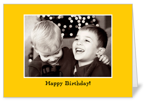 Classic Yellow Birthday Card