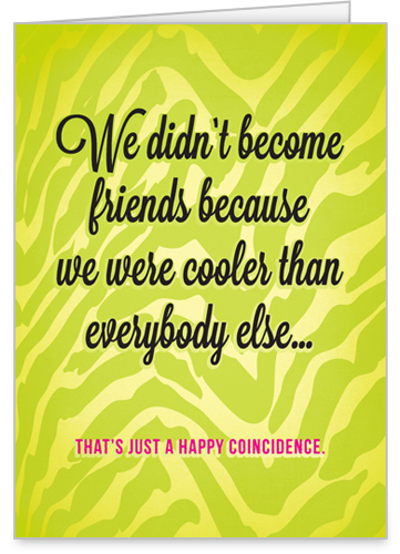Happy Coincidence Birthday Card by treat.